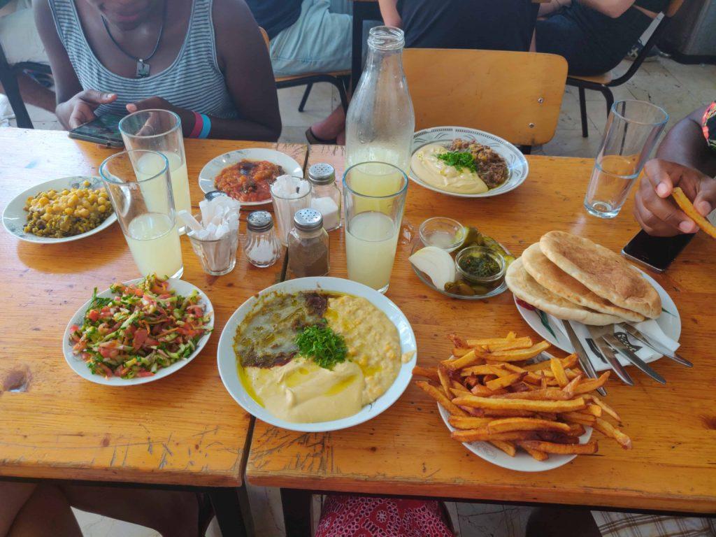 Food Spread Levinsky Market Tel Aviv