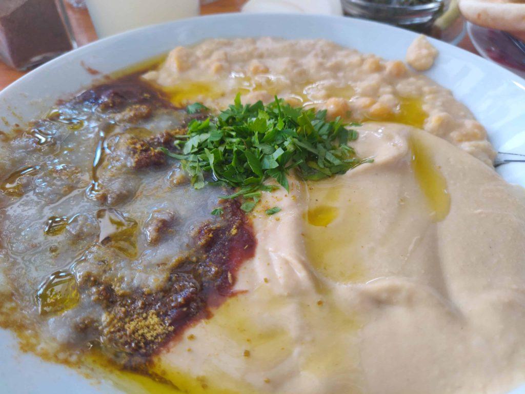 Triple Hummus Platter Levinsky Market Tel Aviv
