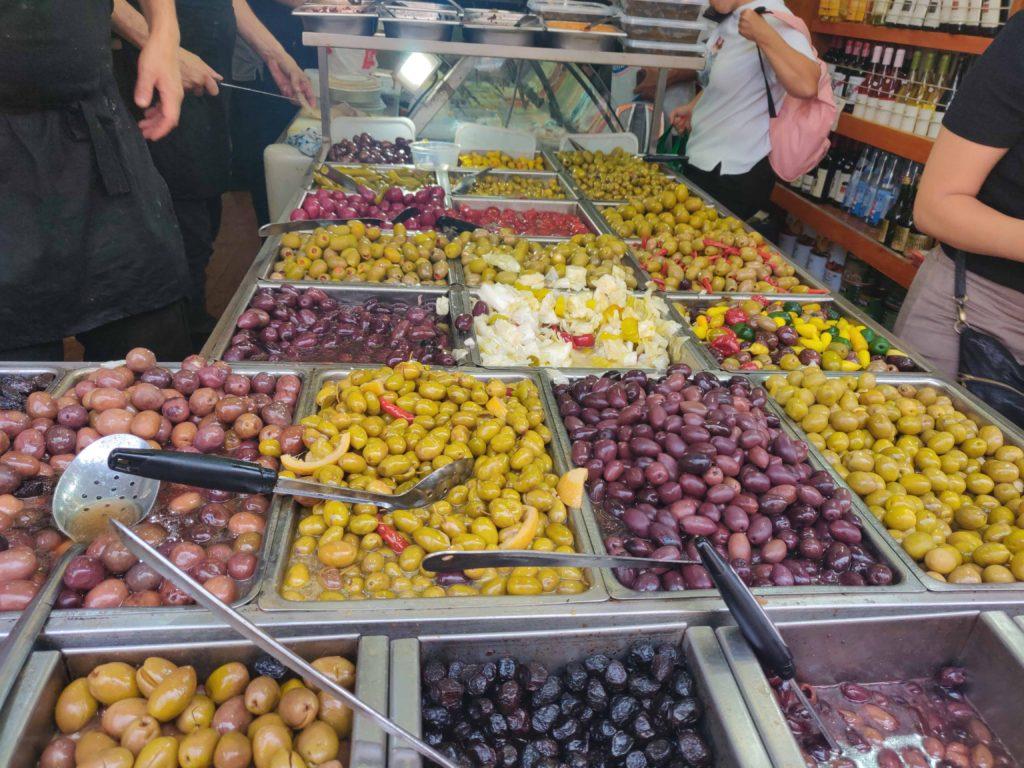 Variety Of Pickles Levinsky Market Tel Aviv