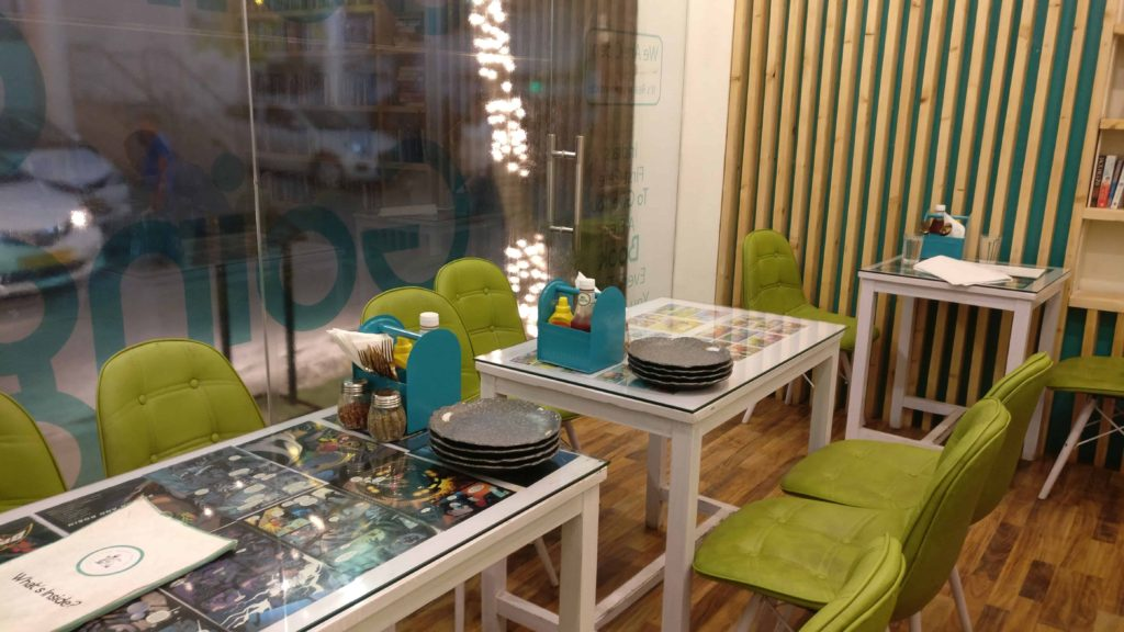 The Nerdy Indian Cafe Decor Interiors Blue And Green Furniture