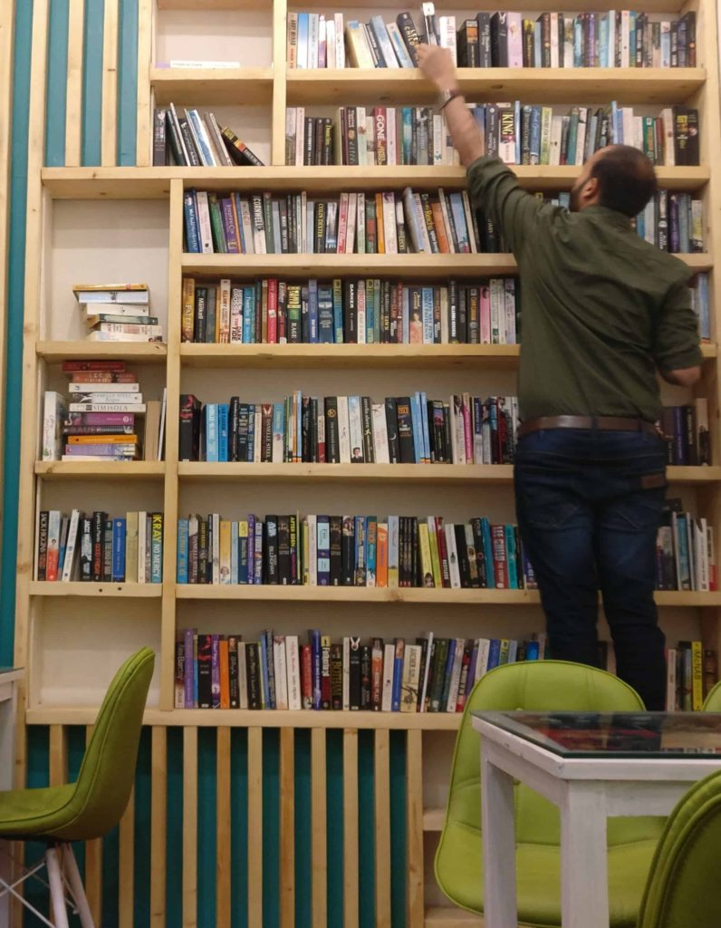 The Nerdy Indian Cafe Iconic Book Rack 1