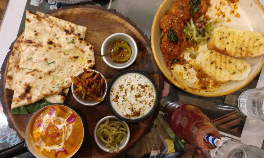 The Nerdy Indian Cafe Paneer Tikka Makhani Combo Spicy Arabiatta Gravy Momos Kokum Bunta