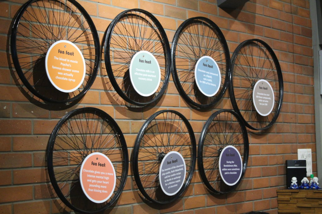 The Chocolate Room Ambiance Hanging Tires