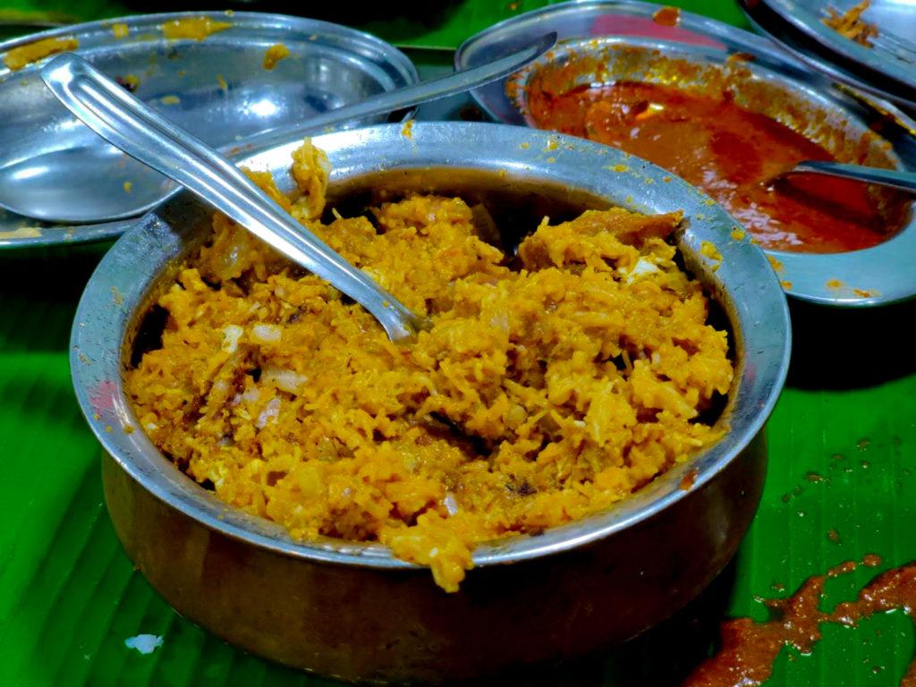 Mutton Kothu Idiyappam Courtallam Border Rahmath Kadai