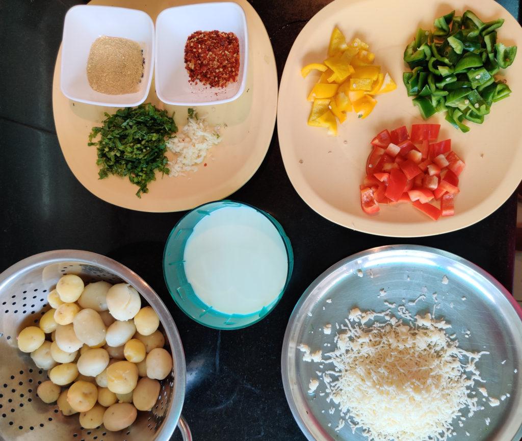 Creamy Herbed Potatoes Ingredients