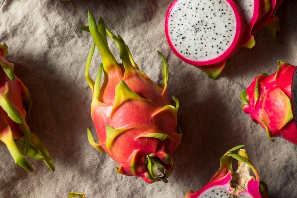 Raw Pink Organic Dragonfruit Pitaya